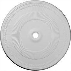 Ekena Millwork Nevio 51.13''H x 51.13''W x 1.5''D Ceiling Medallion, Multicolor