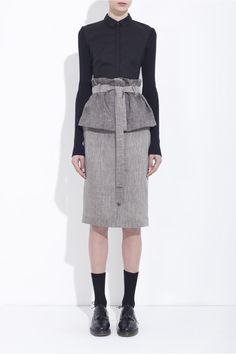 Looking for a fashion-forward #vegan outfit for work? I've got my eye on this black + off-white herringbone wrap skirt made from linen w/ #organic cotton by Bruno Pieters https://www.facebook.com/photo.php?fbid=560827113941653=a.248692471821787.73856.152992901391745=1