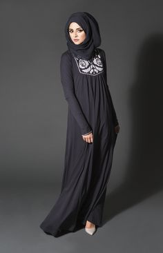 Cross Stitch Rose Abaya #Aab #Abaya #EmbroideryEdit