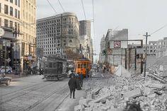 1906 Earthquake Photos Merged with Modern San Francisco