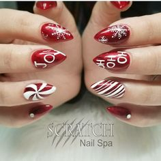 @naildbyamber Christmas Nails