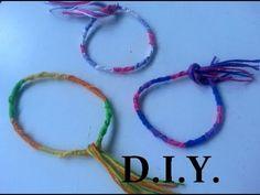 DIY  Bracelet Brésilien Rond. Tuto Facile.