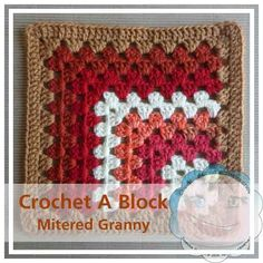 Free #crochet pattern: Mitered Granny (Crochet A Block CAL 003) by Creative Crochet Workshop