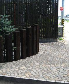 sleeper black fence