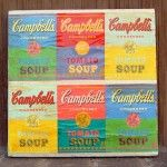 Andy Warhol soup label canvas wall art