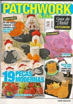 Revista gratis de patchwork para la cocina Sewing Magazines, Book Quilt, Patch Quilt, Felt Fabric, Easy Quilts, My Scrapbook, Felt Dolls, Book Crafts, Diy Projects To Try