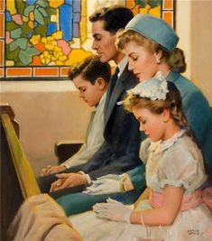 Families went to church together and prayed together.  Maybe that is why the times were more blessed. Andrew Loomis