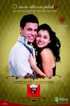 """Foi em clima de romance que desenvolvemos a Campanha de Dia dos Namorados para o Shopping Butantã, intitulada """"O Amor está no Paladar – Sua História de Amor Fica Mais Doce com a Gente""""."""