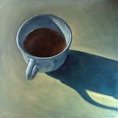 """Morning Coffee"" - Original Fine Art for Sale - © Michael Naples"