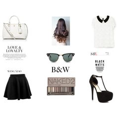 """B&W"" by alinebrehier on Polyvore"