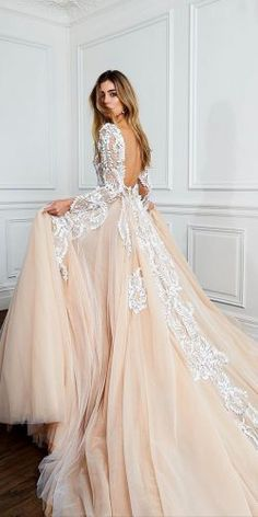 Hottest 27 Wedding Dresses Fall 2018 ★ blush ball gown open back lace wedding dresses pallas couture