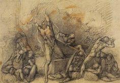 Michelangelo Buonarroti - The Resurrection (1532), Royal Collection, London