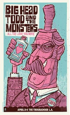 Big Head Todd and the Monsters Concert Poster by Methane Studios
