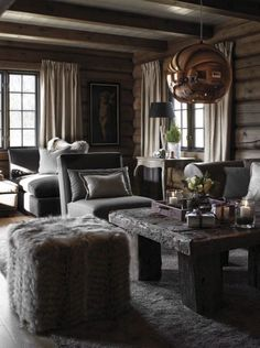 Love the introduction of copper into a chalet design Chalet Design, Cabin Design, Rustic Design, Chalet Interior, Home Interior Design, Cabin Homes, Log Homes, Cabin Interiors, Cabins And Cottages