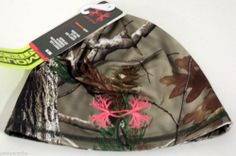 NWT Womens Under Armour Scent Control Camo Beanie - Realtree Pink UA Antler Logo #Fashion #Style #Deal