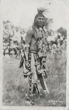 Naked Dreamy Bear #258 Rise Photos, postmarked 1938 from Oglala, South Dakota....