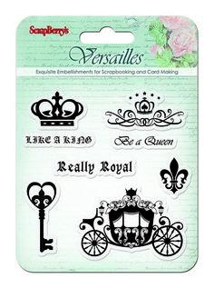 Transparentní razítka / Versailles / Like a King Versailles, Royal King, King Queen, Clear Stamps, Cardmaking, Scrapbooking, Paper Crafts, Cards, Princess