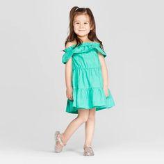 5804727ad Genuine Kids® From OshKosh Toddler Girls' Embroidered A Line Dress - Aqua :  Target