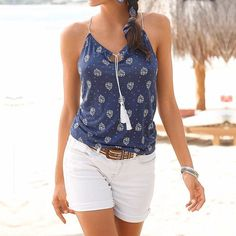 New Fashion 2017 Sexy Women Camisole Vintage Floral Print Camis Casual Spaghetti Strap V Neck Tassel Hollow Out Summer Tops Tees  #instagood #friends #likeforlike #latesttrend #summer #like #tagsforlikes #follow4follow #fashion #fashionlove