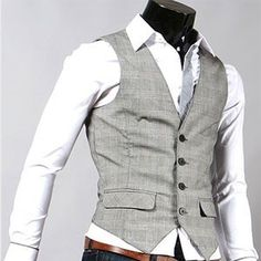 like the tight white shirt & brown belt. Would go well with his new grey vest