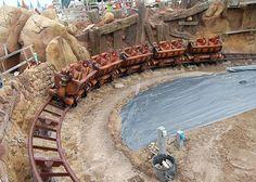 First look at the Seven Dwarfs' Mine Coaster.