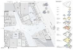 Ground floor plan. Snøhetta proposal for the New National Gallery/Ludwig Museum. Image courtesy of Liget Budapest Design Competition. Click above to see larger image.