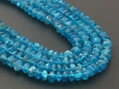 Neon Apatite Beads Neon Blue Apatite Rough Saucer by gemsforjewels