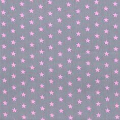 l'oiseau - Little Stars, Gray and Pink: Cotton Poplin, Stenzo (http://www.loiseaufabrics.com/little-stars-gray-and-pink-cotton-poplin-stenzo/)