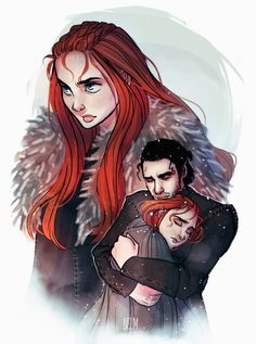 """Sansa Stark and Jon Snow by ProjectNelm. Game of Thrones. George R. R. Martin. """"Where will you go?"""" """"Where will we go."""""""