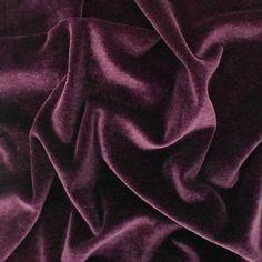 Maroon Purple Velvet Knit, Fabric By The Yard