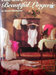 Kwik Sew's Beautiful Lingerie by Kerstin Martensson, Master Patterns included, 80 pages, Colour Photos, Soft Cover Book Lingerie Patterns, Sewing Lingerie, Teddy Lingerie, Women Lingerie, Vintage Lingerie, Book Costumes, Overlock Machine, Kwik Sew Patterns, Bra Pattern