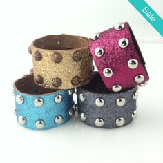 Glitter Glam Bands - Sparkle your world with our newest arrival of Glitter Glam Bands by Rodeo Envy.  Available in Copper, Gunmetal Gray, Turquoise and Razzleberry. - On Sale for $16.80 (was $28)