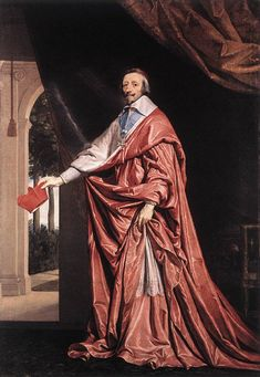 Armand Jean du Plessis, Cardinal-Duc de Richelieu et de Fronsac. I like his little red hat (aka a biretta)
