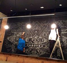 Pinch Barbershop Chalk Mural on Behance