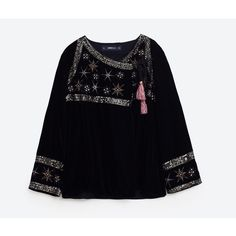 EMBROIDERED STARS VELVET JACKET - NEW IN-WOMAN | ZARA United States (€46) ❤ liked on Polyvore featuring outerwear, jackets, embroidered jacket, blue jackets, star jacket, embroidery jackets and blue velvet jacket