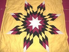 Native+American+Star+Quilts   Traditional native american star baby quilt yellow