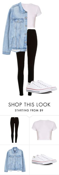 """Bez tytułu #158"" by wiktoria-duszynska ❤ liked on Polyvore featuring River Island, MANGO and Converse"