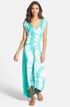 tie dye maxi dress @nordstrom