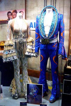 "Costumes from ""Mamma Mia"" Broadway Costumes, Theatre Costumes, Movie Costumes, Cool Costumes, Vampire Costumes, Musical Theatre, Dance Costumes, Disco Costume, 70s Costume"