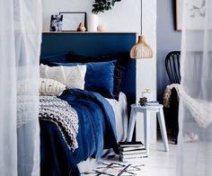 50 Newest Navy Blue Bedroom Decor - Bedroom Bedrooms In 2019 Blue Home Decor Home Decor - Blue Bedroom Decor, Home Bedroom, Lux Bedroom, Design Bedroom, Royal Blue Bedrooms, Velvet Bedroom, Home Interior, Interior Design, Ideas Hogar
