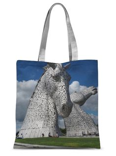 The Kelpies 151 Sublimation Tote Bag – Photogold Scottish gifts Clydesdale Horses, Scottish Gifts, Fashion Face Mask, Original Image, Sculptures, Photo Gifts, Reusable Tote Bags, Luxury, Shop