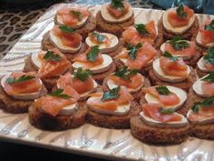 Apple Brie Salmon Tea Sandwiches, bridal shower tea party food