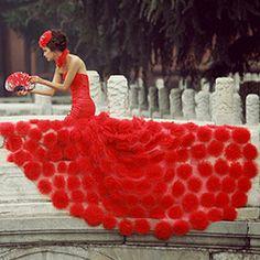 red wedding dress; OMG, dotts!!