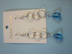 orecchini a pendente con gocce azzurre, by L'uncinetto tutto matto, 3,50 € su misshobby.com