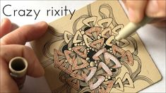 """Crazy Rixty""ゼンタングル Zentangle/ Instagram live Origami Gifts, Avocado Salad, Zentangles, Video Tutorials, Christmas Ornaments, Live, Salad Recipes, Projects, Youtube"