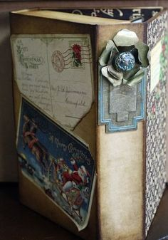 Another stunning view of Nancy Wethington's holiday altered art box! #graphic45