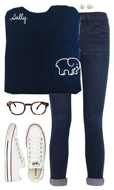 """Guess what I look like! Some of you know, so refrain from commenting! "" by sc-prep-girl ❤ liked on Polyvore featuring Frame Denim, Converse, ZENTS and Honora"