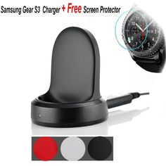 Samsung Gear S3 Wireless Charger,Budesi Wireless Charging Cradle Dock with USB Cable for Samsung Gear S3 Classic(SM-R770) / Frontier Smartwatch (SM-R760 SM-R765 Black) * Read more reviews of the product by visiting the link on the image. (This is an affiliate link and I receive a commission for the sales)