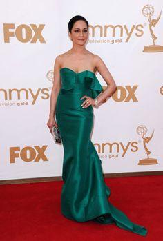 Archie Panjabi vestindo Angel Sanchez, Emmy Awards 2011