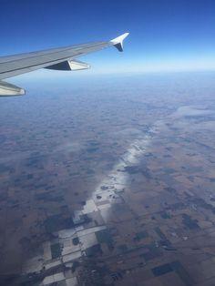 This Thin Streak Of Snow Across Ohio